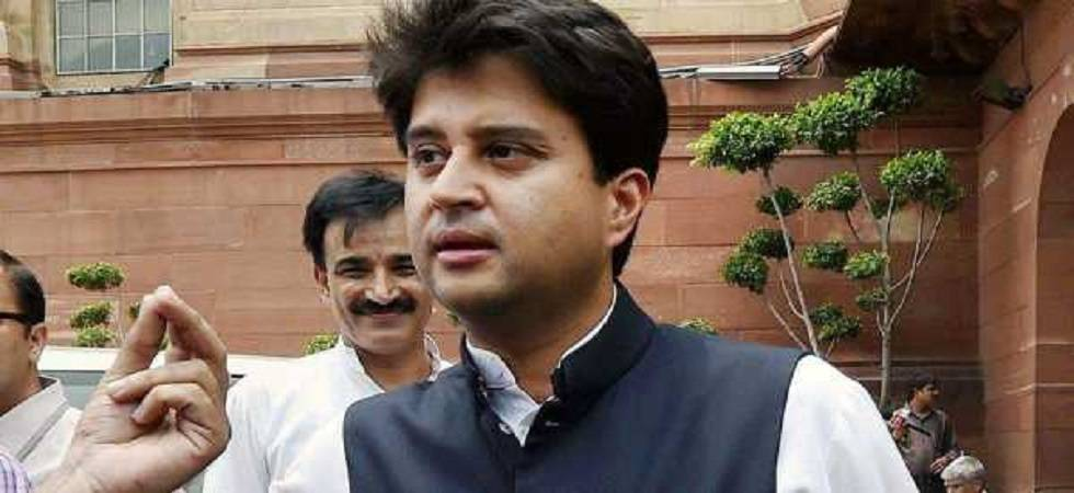 Have you never winked in your life? Congress leader Jyotiraditya Scindia to journalists (File Photo- PTI)