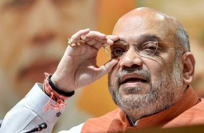 Amit Shah arrives in Mumbai, to attend special screening of 'Chalo Jeete Hain'
