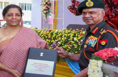 Sitharaman hands over 'Made in India' engines to Army