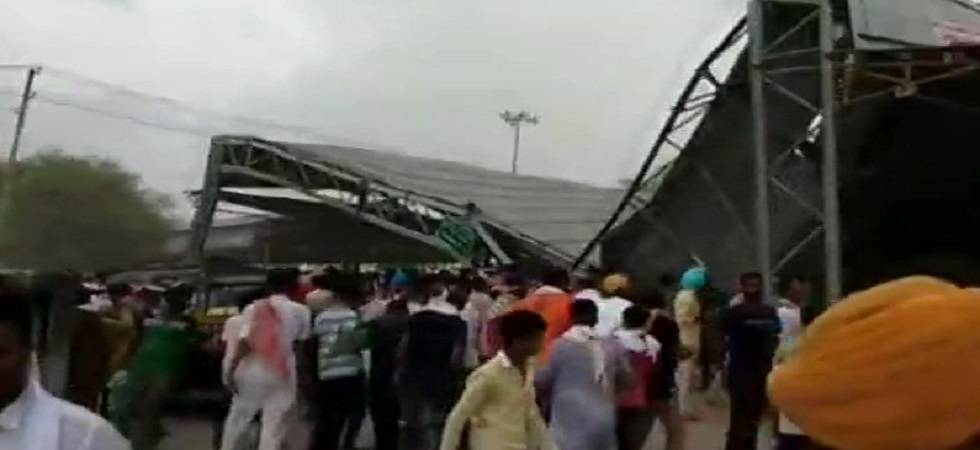 Tin shed collapse injures 15 in Rajasthan (Photo: Twitter/ANI)