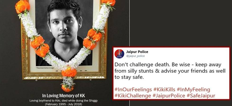Kiki Challenge: Dance your way to safety not hospital, warns police (Photo: Facebook/Jaipur Police)