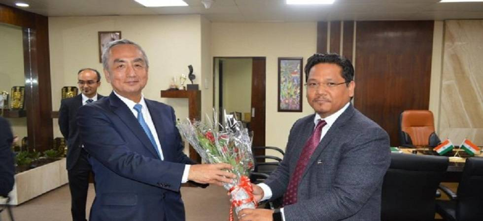Japan Ambassador to India Kenji Hiramatsu and Meghalaya CM Conrad Sangma (File Photo- Twitter/Conrad Sangma)