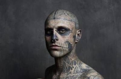 The surreal Zombie boy, Rick Genest, dies at the age of 32