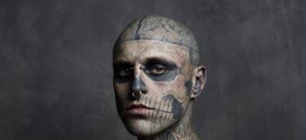 Rick Genest, popularly known as 'Zombie Boy' (Credit: Twitter)