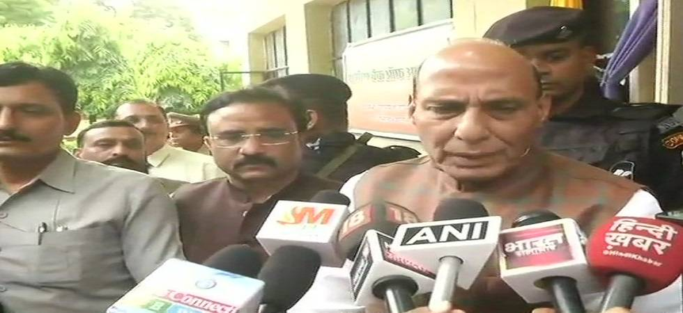 Rajnath Singh in Lucknow (Photo- Twitter/ANI)