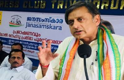 Headgear controversy: Nagaland BJP burns Shashi Tharoor effigy