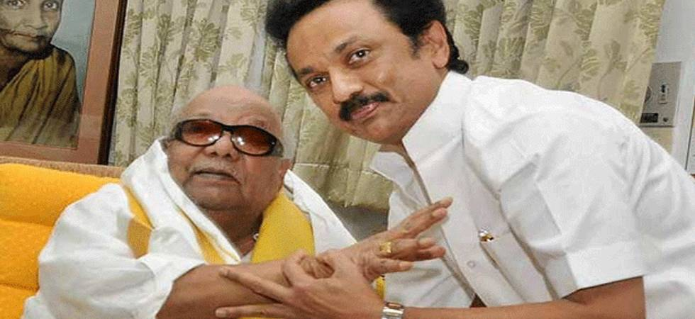 MK Stalin with his father and DMK chief M Karunanidhi (File Photo)