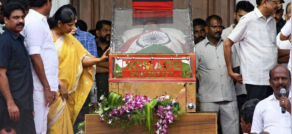 Karunanidhi Funeral LIVE | Kalaignar buried at Marina Beach in Chennai (Photo: PTI)