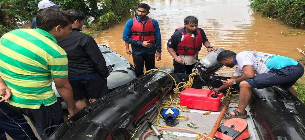 Operation Madad: 55 people evacuated from flood-hit areas in Kerala; toll rises to 28 (Photo: Twitter)