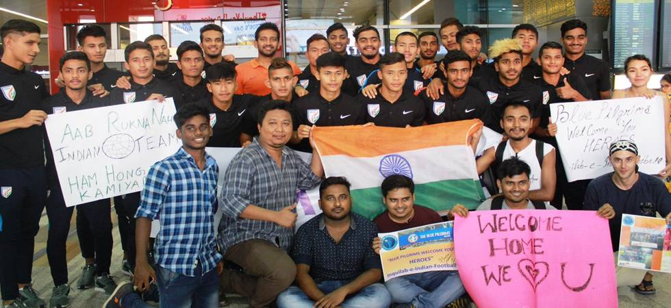 India U20 football team returns home, welcomed by emphatic fans (Photo: Indian Football Twitter)