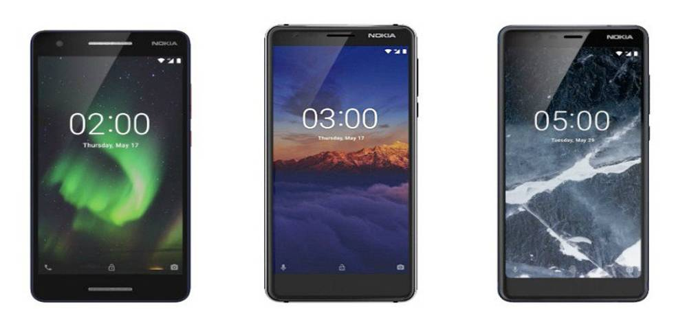 Nokia 5.1, Nokia 2.1,Nokia 3.1 3GB variant launched in India; Know price, specs and features (Photo: Twitter)