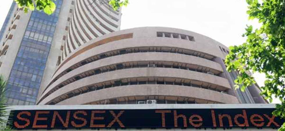 Sensex retreats from record high, down 106 pts (file photo)