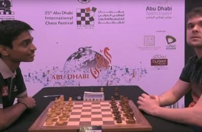 Chithambaram holds Cheparinov in Abu Dhabi Masters