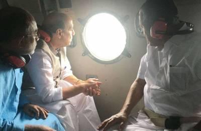 Kerala floods: Rajnath Singh surveys rain-battered areas; Sushma Swaraj assures passport replacement free of cost