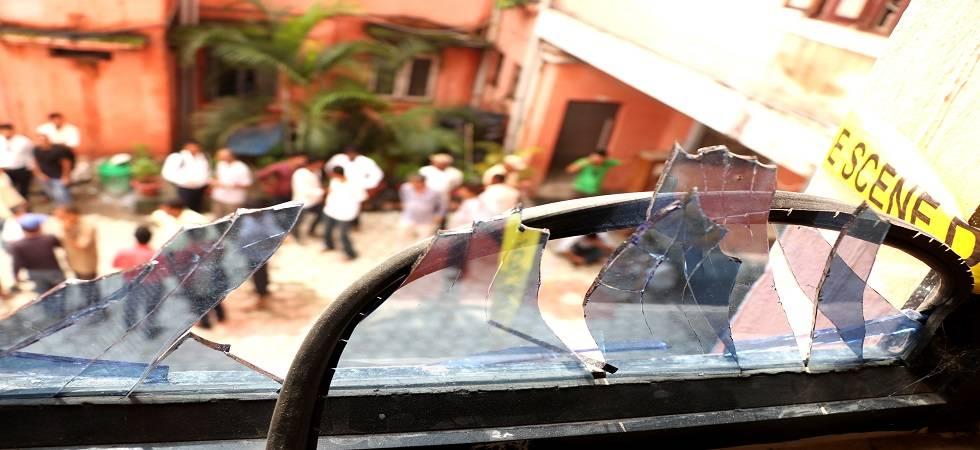 Explosion at Nepal's Biratnagar Metropolis office (Photo- Twitter)