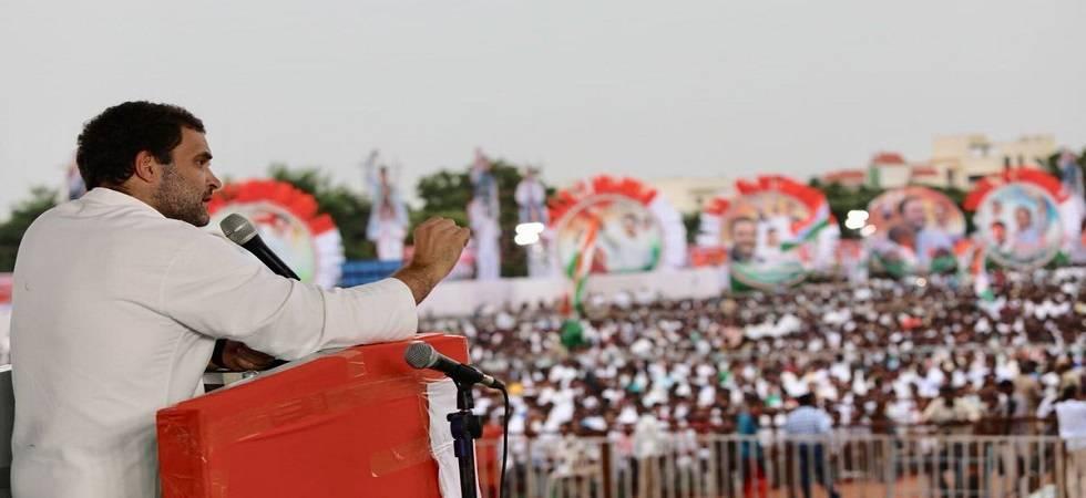 Rahul Gandhi in Hyderabad (Photo: Twitter)