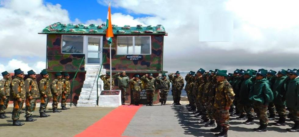 PLA joins Indian Army to celebrate I-Day in Sikkim (Photo- Twitter/ANI)