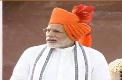 Independence day 2018: Prime Minister sports saffron headgear during his address