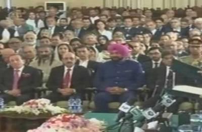 Navjot Singh Sidhu shares dais with President of PoK at Imran Khan's swearing-in