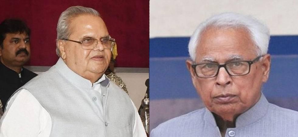Satya Pal Malik (left) replaces NN Vohra (Nehra) as new Jammu and Kashmir Governor