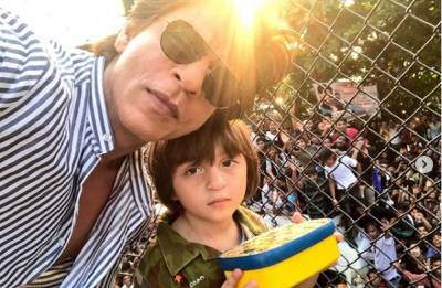 Shah Rukh Khan with his cute munchkin AbRam wishes Eid Mubarak
