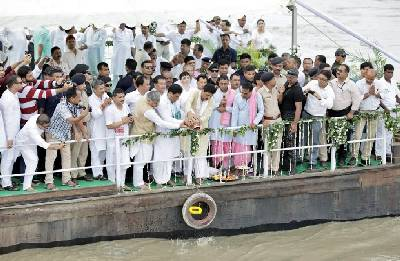 Former PM Vajpayee's ashes immersed in Assam's Brahmaputra, Barak rivers