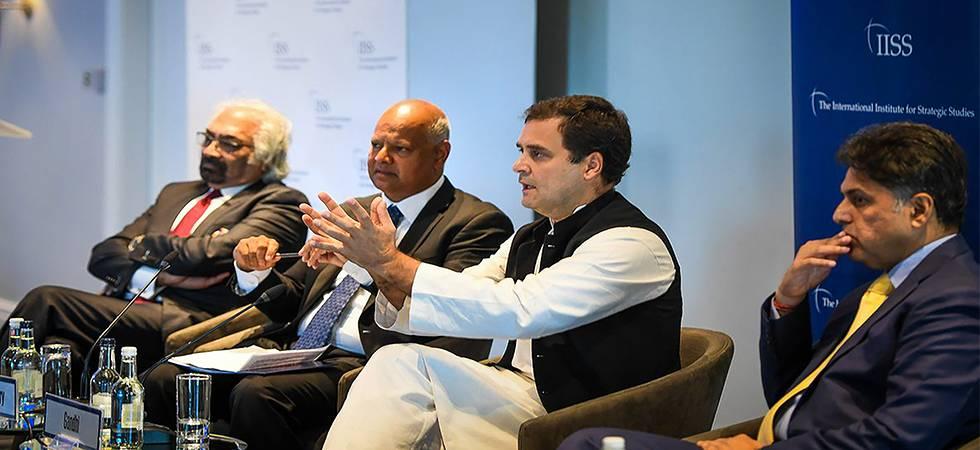 Congress President Gandhi in London (Photo: PTI)