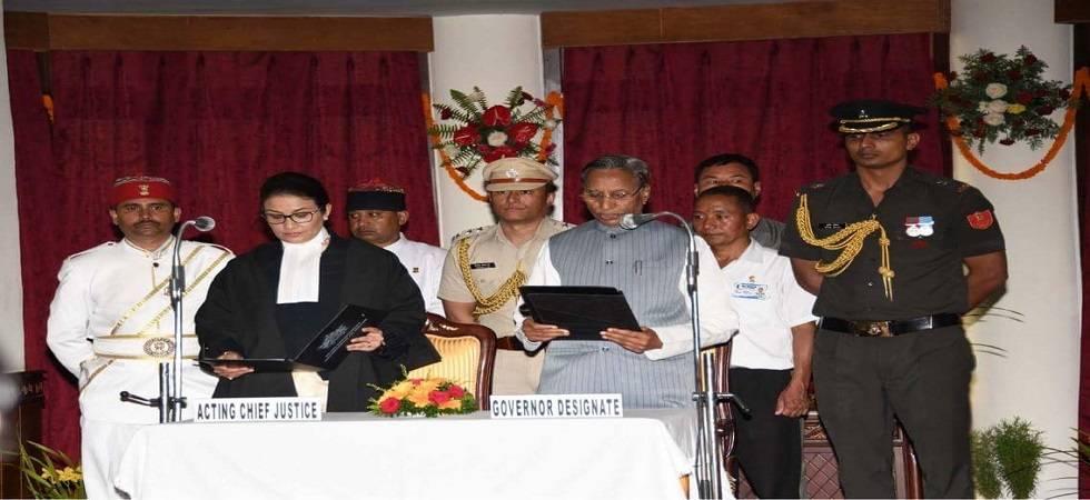 Ganga Prasad sworn in as Sikkim Governor (Photo- Twitter/@sikkimgovt)