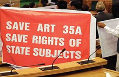 Violent protests in Kashmir after rumours of SC scrapping Article 35-A