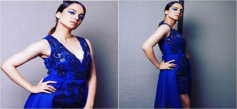 Lakme Fashion Week 2018: Kangana Ranaut sparkles in Pankaj and Nidhi ensemble (Photo:Twitter/@theknittingchap)
