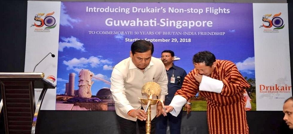 Good news for Northeast people! DrukAir to start Guwahati-Singapore direct flight from September 1 (Photo- Twitter/@CMOfficeAssam)