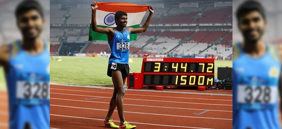 Asian Games 2018 Day-12, LIVE: India's Jinson Johnson wins gold medal in men's 1500 meters finals (Photo: Twitter)