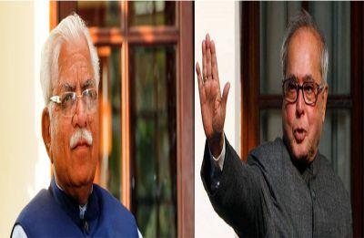 Show of warmth between Pranab Mukherjee and Khattar may greatly amuse Congress