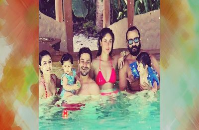 Kareena and Saif soaking up happiness in Maldives with little Taimur