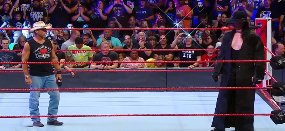 WWE RAW - The Undertaker comes BACK to confront Shawn Michaels(Photo: Twitter)