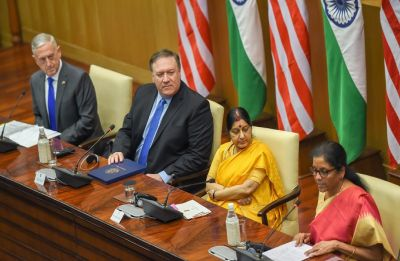 2+2 Dialogue: India, US ink critical defence pact; discuss cross-border terror, H1B