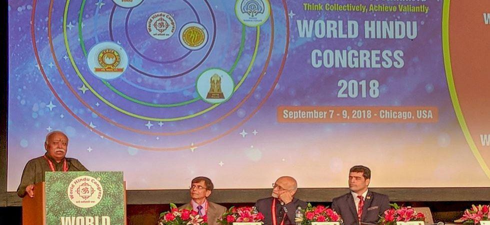 Mohan Bhagwat addresses World Hindu Congress in Chicago (Photo Source: PTI)