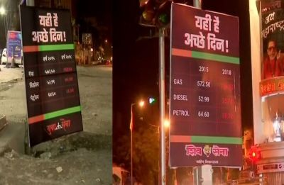Fuel Price Hike: Ahead of Congress protest, Shiv Sena mocks Modi's 'achhe din' promise