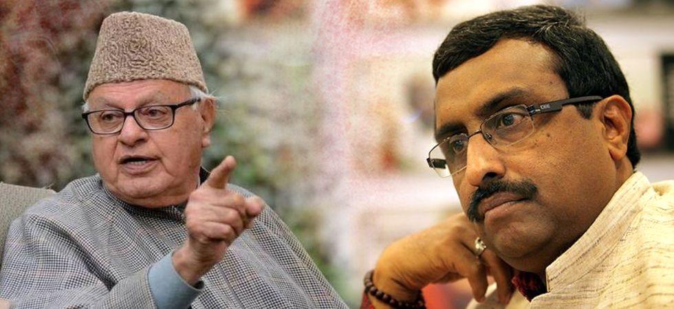 BJP leader Ram Madhav hits back at Farooq Abdullah over Article 35 A (File Photo)
