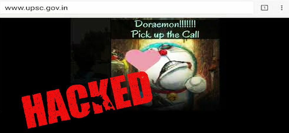 UPSC website hacked! Hackers play 'Doraemon' title song with in background (Photo: Screenshot)