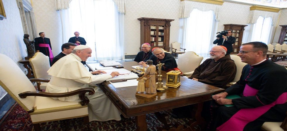 Pope meets with US church leaders over clergy sex abuse (Photo- Twitter/@tdwilliamsrome)