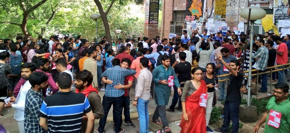 JNUSU Election 2018: Polling underway for four crucial posts (Photo: Twitter)