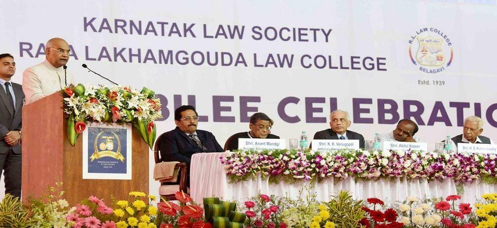 President Ram Nath Kovind in Belagavi, Karnataka (Photo- Twitter/@PIB_India)