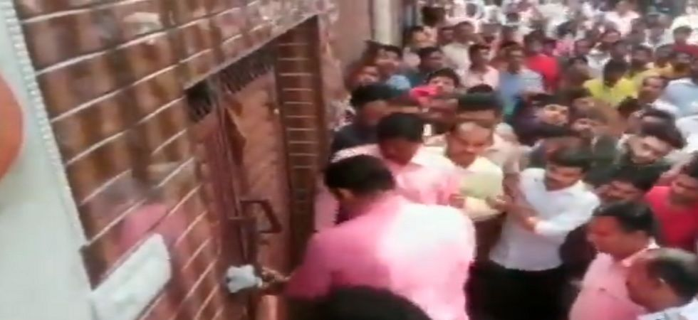 Video: Controversy erupts after Delhi BJP chief Manoj Tiwari seen breaking lock of sealed house (Photo- ANI video)