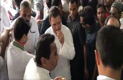 At Congress' Madhya Pradesh 'Sankalp Yatra', Rahul Gandhi's tea break and selfie