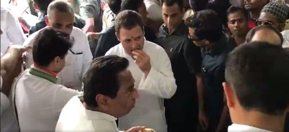 Rahul Gandhi starts poll campaign in Madhya Pradesh (Photo: Twitter/Video grab)