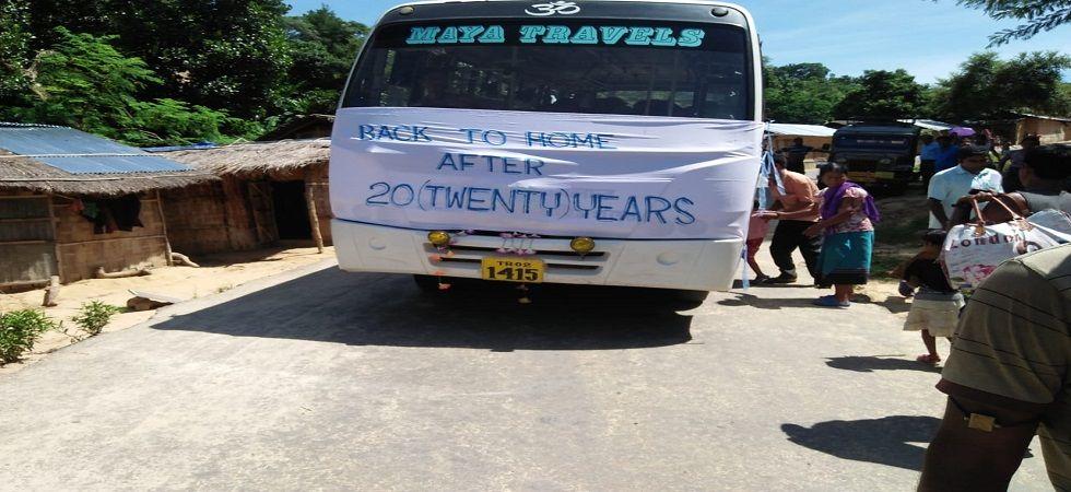 28 families of Bru refugees return to Mizoram (Photo- Twitter)