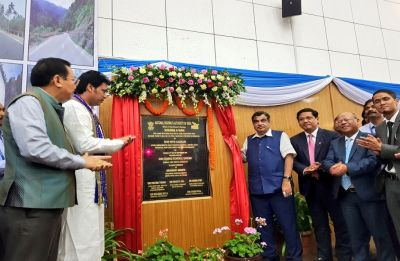 Gadkari dedicates to nation upgraded NH-44 in Meghalaya