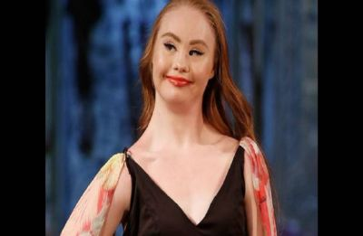 Madeline Stuart the first model with Down's Syndrome sashays the New York Fashion Week again
