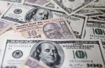 Re strengthens by 22 paise against dollar in early trade
